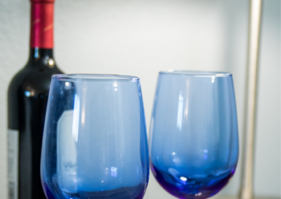 Image of wine glasses and Wine bottle