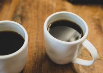 Image of two coffee cups with coffee